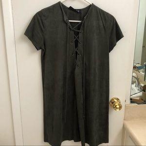 Audrey 3+1 Olive Green Dress
